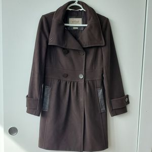 Aritzia Wilfred Brown Cashmere & Wool Coat Small
